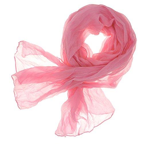 DOLCE ABBRACCIO CRAZY MAMA Damen Schal Halstuch Tuch Damenschal aus Baumwolle MASH Schals Ganzjährig Frühling Sommer (Rosa)