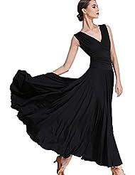 1a1764d528d3fa V-Ausschnitt Nationaler Standard Ballroom Tanzkleid für Frauen Temperament  Übungskleid Trikot Modern Walzer Tango Tanzen