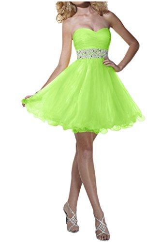 Victory bridal 2015 nouveau été brautjungfernkleider ceinture abendkleider partykleider courte à paillettes Vert - Vert