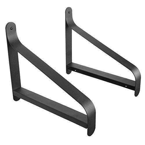 Wand Regal Metall Rod (artifactdesign Metall Regal Klammern mit modernen Heavy Duty Design passt 27,9cm Holz Regal Aufbewahrung Rack Garage perfekt für Bücherregal TV Wandmontage 2Stück)