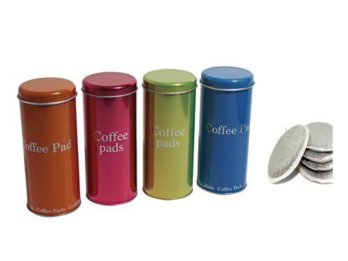 Kaffeepaddose Metall 8cm, Höhe: 17,5cm