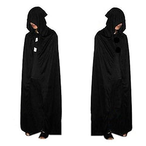 Noir Costumes Cap - Forepin®Adulte Cosplay Mort Grim Reaper diable Cap