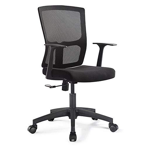 yunmao Mesh Bürostuhl menschliche Gesundheit Tisch und Stuhl Computer Stuhl Advanced Material Design höhenverstellbarer Hocker mit Armlehne Drehstuhl schwarz