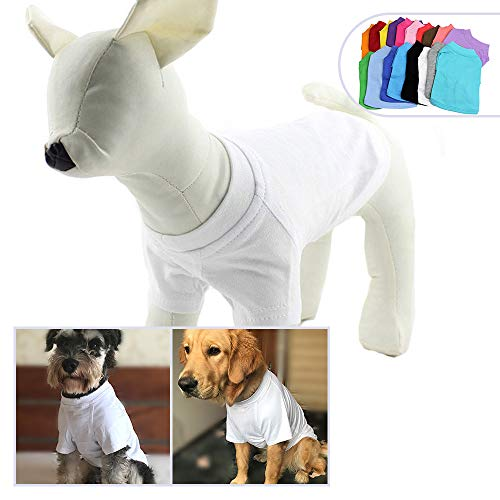 43844a8f60eb longlongpet Pet Clothing Dog Clothes Blank T-shirt Tee Shirts For Small  Medium Large Size