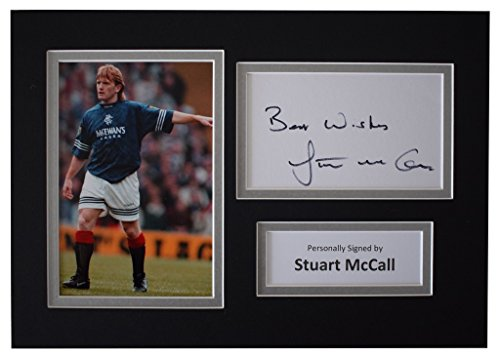 Sportagraphs-Stuart-McCall-Signed-Autograph-A4-photo-display-Rangers-Football-AFTAL-COA-PERFECT-GIFT