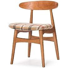 GAOLI Taburete de Madera Sillas de Comedor, sillas de Madera Maciza Espalda, escritorios de Oficina y sillas, mesas y sillas Sencillas y Modernas, Retro nórdica preside -Mint Rojo
