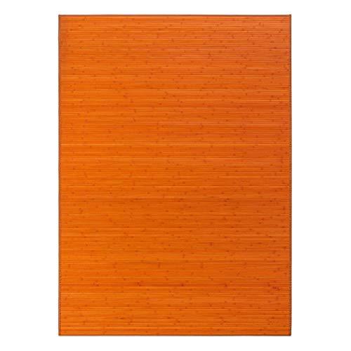 Alfombra salón Comedor Oriental Naranja bambú 180
