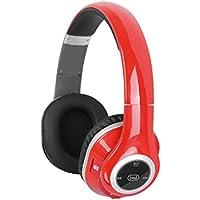 Trevi DJ 1280 BTR Stereofonico Padiglione auricolare Nero, Rosso cuffia