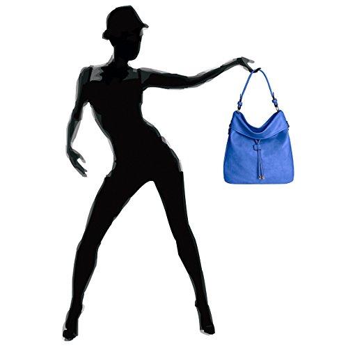 CASPAR Damen Tasche / Handtasche / Umhänge Tasche / Schultertasche - in vielen Farben - TS916 royal blau