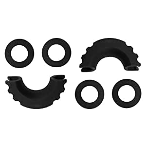 Rattling Protection Shackle Cover Anxingo 2 Pcs D-Ring Shackle Isolators with 4 Pcs Washers Kit Fits 3//4 Inch Shackle Protect Shackles from Damage /& Prevents Rattling