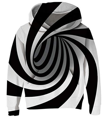 AIDEAONE 3D Rauch gedruckt Pullover Cool Hoodie Sweatshirt für Jungen Mädchen Kinder