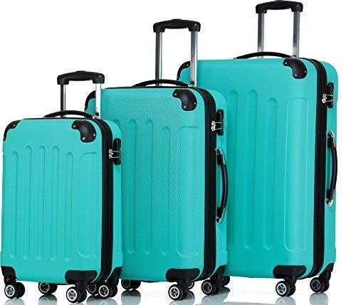 SHAIK  Serie BUTTERFLY Design FRA 3 Größen M | L | XL | Set | Hartschalen Kofferset 45/78/124 Liter, 4 Doppelrollen, 25% mehr Volumen durch Dehnfalte...
