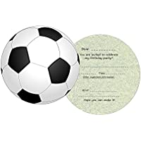 the lazy panda card company 11 Round Football Invites for Kids Birthday Party Invitations