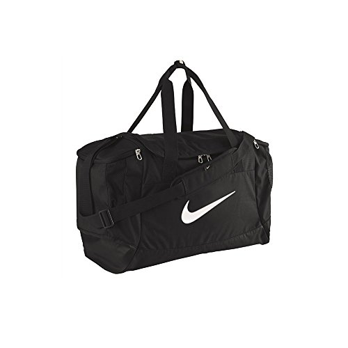 Nike, Borsa sportiva Drum Club Team Swoosh, Nero (Black/White), 40 x 27 x 23 cm, 43 litri