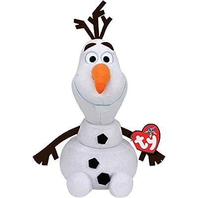 Disney Frozen - Olaf, Peluche con Sonido, 23 cm, Color Blanco (TY 90152TY) de Ty