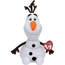 Disney Frozen - Olaf, peluche con sonido, 23 cm, color blanco (TY