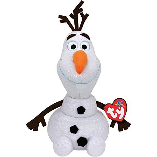 Disney Frozen - Olaf, Peluche con Sonido, 23 cm, Color Blanco (TY 90152TY)