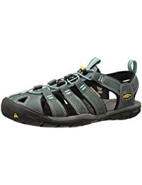 Keen Clearwater CNX Leather - Sandalias Mujer - verde 2016