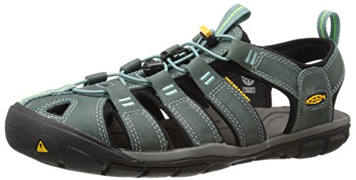 Keen Damen Clearwater CNX Leather Aqua Schuhe, Mehrfarbig (Mineral Blue/Yellow 1014371), 37.5 EU