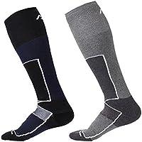 2paia di calze da sci termiche Performance–ad asciugatura rapida, traspirante COOLMAX Tubo Lungo Leggero e traspirante da uomo sci sport outdoor caldo calze–taglia UK 6–10Euro 39–44, UOMO