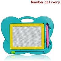 Bobury Tablero de escritura magnética tablero de dibujo de la pizarra de plástico educativo Doodle Tableta esquemática pintura de juguete borroso colorido para niños (color aleatorio)