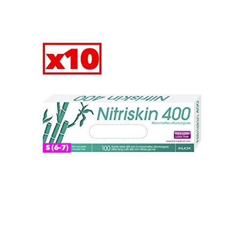 Guanti in nitrile blu Polsini ultra-longues–Cartone Di 10confezioni da 50–AQL–NTX _ 10