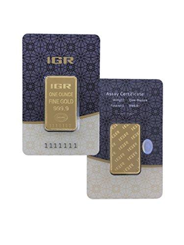 31,1g Gold 31,1 Gramm Goldbarren IGR 999,9 Feingold LBMA zertifiziert … (Goldbarren 1 Oz)