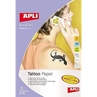 2 Hojas Papel para tatuajes Apli 11295