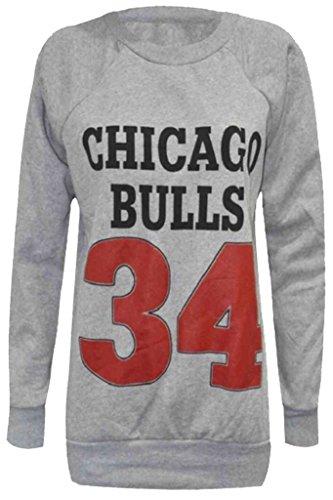 Home ware outlet Damen Sweatshirt Sweatshirt schwarz * Einheitsgröße Gr. M/L (38-40), Chicago Bulls Grey