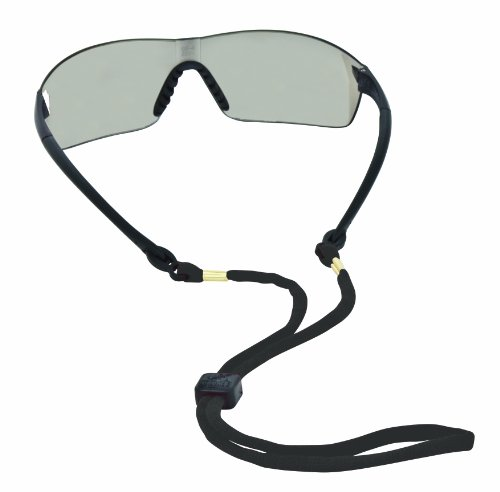 Chums Safety 12212 Cotton Eyewear Retainer with Reconnecting Double Breakaway, Black (Pack of 6)