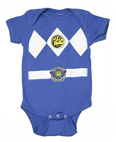 Power Rangers blau Baby Ranger Kostüm Strampler Onesie (0-6 - Blaues Power Rangers Kostüm 3 4