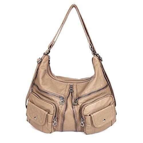 21KBARCELONA  Top con zip multi tasche Borse Lavato Borse borse in pelle zaino tracolla XS160989 Taute