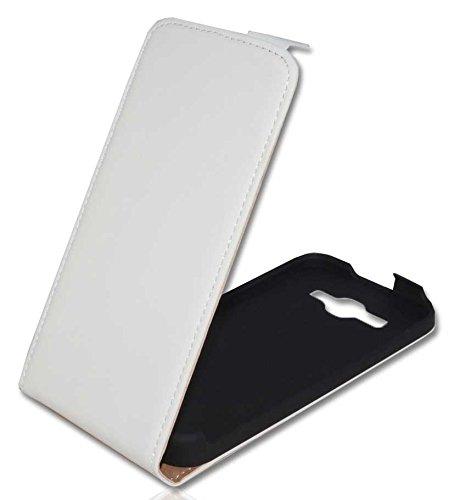 Premium Handy Case Tasche Flip für Huawei Ascend Y520 / Handytasche Schutzhülle Schutztasche Weiß Pda-tasche Pouch Case
