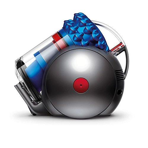 Dyson Cinetic Big Ball Musclehead-Aspiradora sin Bolsa de Trineo (1200 W de Potencia, 250 W de succión, Capacidad del Cubo 1.6 litros, 5 años de garantía) Color Azul, 81 Decibeles, Metal, plástico