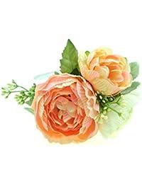 clarigo Haarschmuck Ranunkel Haarband Hochzeit Kommunion Perlenband rosa rose
