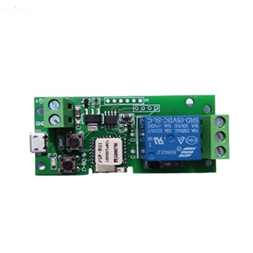 CAOQAOContrôLeur D'Ouvre-Porte De Garage WiFi à Distance Compatible avec Alexa pour Google Home TéLéCommande Minuterie Alexa Commande Vocale pour SystèMe De ContrôLe D'AccèS Verrouillage/Autobloquant