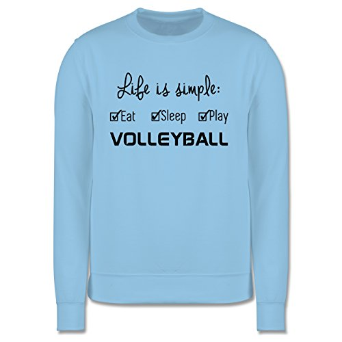 Volleyball - Life is simple Volleyball - Herren Premium Pullover Hellblau