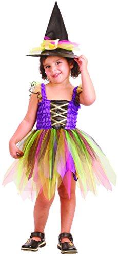 Imagen de disfraz de bruja arcoiris niña  de 3 a 4 años