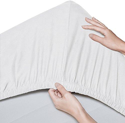 Pinzon - Spannbettlaken aus Bio-Baumwolle, Kinderbett/Babybett, 2er-Pack, 60 x 120 cm, Weiß