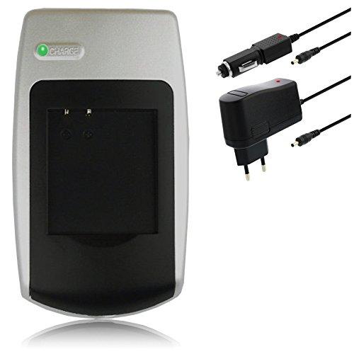 mr!tech Akku-Ladegerät (220V + KFZ 12V/24V) für Canon NB-4L, passend für IXUS 30, 40, 50, 55, 60, 65, 70, 75, 80 IS, 100 IS, 110 IS, 120 IS, 130 IS, Wireless, i7 Zoom, iZoom u.a.