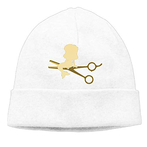 ghkfgkfgk Hairdressers with Mermaid Unisex Fashion Beanie Knit Hat Cap ColorKey -