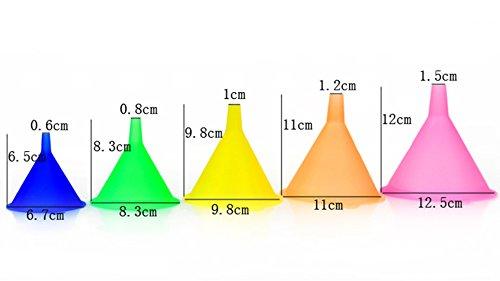 Trichter Küche Regenbogenfarben Trichter Set – 5 Stück Kochtrichter (67 - 3