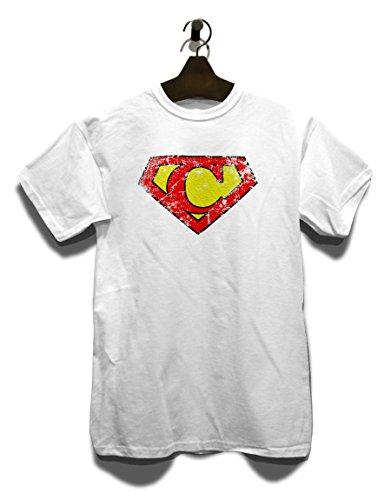C Buchstabe Logo Vintage T-Shirt Weiß