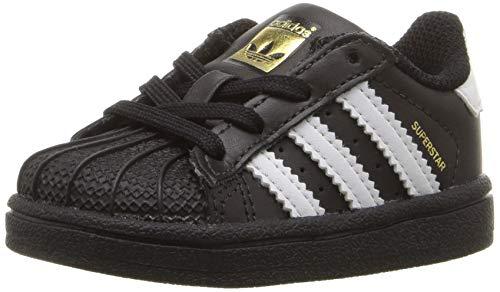 adidas Unisex-Kinder Superstar I Sneaker, Weiß/Schwarz, 24 EU (Sneaker Adidas Toddler)
