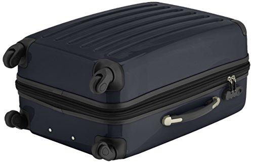 HAUPTSTADTKOFFER - Alex - 2er Koffer-Set Hartschale glänzend, 65 cm + 55 cm, 74 Liter + 42 Liter, Graphit-Blau Braun-Schwarz