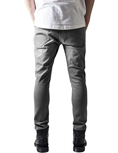 Urban Classics Slim Fit Biker, Jeans Homme Grau (Grey 111)