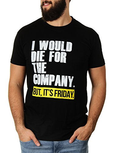 I Would Die For The Company - Herren T-Shirt von Kater Likoli Deep Black