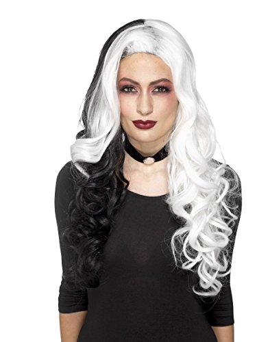 Damen Kostüm Zubehör Langhaar Perücke böse Madame Halloween