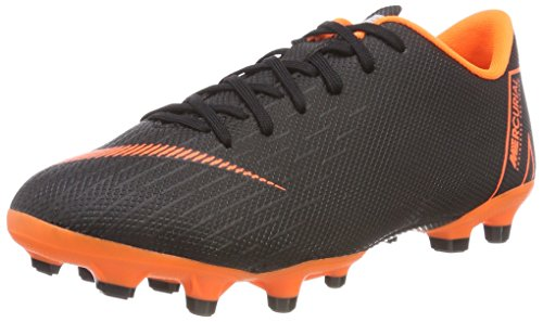Nike Unisex-Kinder Jr. Mercurial Vapor XII Academy MG Fitnessschuhe, Mehrfarbig (Black/Total Orange-w 081), 34 EU