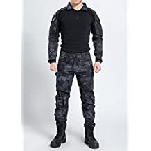 ea6eef93b0 NoGa, uniforme mimetica da commando in tessuto morbido, traspirante e  resistente all'usura